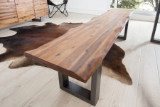 Casa Padrino Designer Sitzbank Natur Breite 180 cm, Höhe 50 cm
