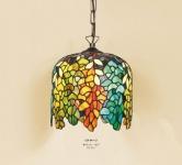 Handgefertigte Tiffany Pendelleuchte Hängeleuchte Durchmesser 24 cm, 1-Flammig - Leuchte Lampe