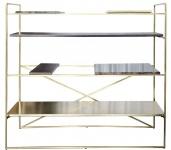 Casa Padrino Luxus Wohnzimmerschrank Gold 110 x 45 x H. 100, 5 cm - Designer Regalschrank