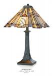 Casa Padrino Tiffany Tischleuchte Durchmesser 40cm, Höhe 63cm Mod10 Mosaik Leuchte Lampe Hockerleuchte
