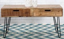 Casa Padrino Designer Beistelltisch Mango Natur 100cm - Massivholz