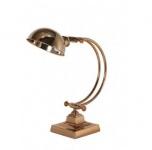Casa Padrino Tischleuchte Roségold 20 x 20 x H 43 cm - Leuchte - Schreibtischleuchte - Büroleuchte