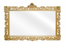 Casa Padrino Barock Spiegel Gold Handgefertigt 193 x 110 cm - Holzspiegel - Barock Möbel