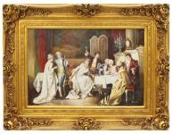 Casa Padrino Barock Öl Gemälde Feier Gold Prunk Rahmen 130 x H. 100 cm - Edel & Prunkvoll