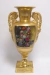 Casa Padrino Barock Porzellan Vase mit 2 Griffen H. 58 cm - Luxus Vase