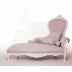Casa Padrino Luxus Barock Chaiselongue Creme / Altweiß Möbel - Luxury Hotel Collection
