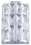 Casa Padrino Luxus Wandleuchte Silber 14, 7 x 10 x H. 21, 2 cm - Elegante Wandlampe mit Kristallglas