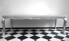 Casa Padrino Barock Luxus Esstisch Silber 240 cm x 100 cm - Esszimmer Tisch - Made in Italy - Luxury Collection