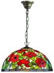 Casa Padrino Tiffany Hängeleuchte / Hängelampe Mehrfarbig Ø 40 x H. 95 cm - Tiffany Leuchten