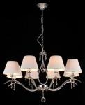 Casa Padrino Barock Kristall Decken Kronleuchter Nickel 77 x H 51 cm Antik Stil - Möbel Lüster Leuchter Hängeleuchte Hängelampe
