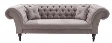 Casa Padrino Chesterfield Sofa in Greige 230 x 90 x H. 79 cm - Designer Chesterfield Sofa