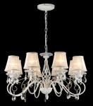 Casa Padrino Barock Kristall Decken Kronleuchter Weiß Gold 78 x H 45 cm Antik Stil - Möbel Lüster Leuchter Hängeleuchte Hängelampe