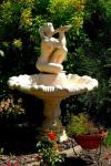 Casa Padrino Jugendstil Fontäne / Springbrunnen Ø 130 x H. 159 cm - Barock & Jugendstil Garten Accessoires