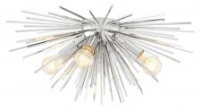 Casa Padrino Deckenleuchte / Deckenlampe Silber Ø 58 x H. 26, 5 cm - Luxus Kollektion