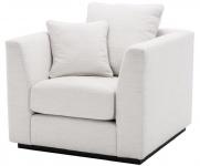 Casa Padrino Luxus Wohnzimmer Sessel Weiß / Schwarz 98 x 100 x H. 73 cm - Wohnzimmermöbel