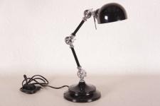 Casa Padrino Schreibtischleuchte Industrial Style Mod SL3 - Schwarz / Chrom - Scheibtisch Lampe Leuchte
