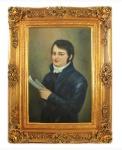 Handgemaltes Barock Öl Gemälde Herr 5 Gold Prunk Rahmen 130 x 100 x 10 cm - Massives Material
