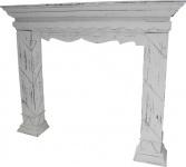 Casa Padrino Landhausstil Kaminumrandung Antik Weiß 116 x 22 x H. 99 cm - Handgefertigte Kaminumrandung im Shabby Chic Look