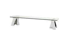Casa Padrino Art Deco Luxus Couchtisch 190 x 45 x H. 36 cm - Wohnzimmer Salon Tisch - Wohnzimmer Tisch Möbel