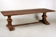 Casa Padrino Vintage Teak Esstisch Holzfarben Rustikal Massiv - Landhaus Stil Tisch Teakholz