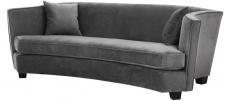 Casa Padrino Luxus Sofa Grau 226 x 110 x H. 74 cm - Luxus Wonzimmer Möbel