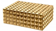 Casa Padrino Luxus Schmuckschatulle / Schmuckkasten mit Deckel Gold 28 x 21 x H. 10 cm - Luxus Accessoires