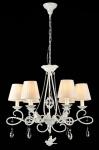 Casa Padrino Barock Kristall Decken Kronleuchter Weiß 67 x H 63 cm Antik Stil - Möbel Lüster Leuchter Hängeleuchte Hängelampe