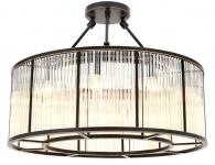 Casa Padrino Deckenleuchte Bronze Ø 80 x H. 61 cm - Luxus Qualität