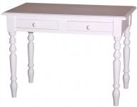 Casa Padrino Schreibtisch mit 2 Schubladen in weiß 109 x 60 x H. 79 cm - Möbel im Landhausstil
