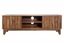 Casa Padrino Designer Fernsehschrank TV-Board Natur B.145cm x H.45cm x T.40cm - Sideboard - Kommode - Handgefertigt Massivholz!