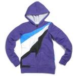 Circa Skateboard Ardnet Zip Fleece Purple/White/Black/Cyan sweater