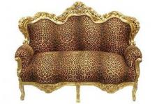 "Barock Sofa Garnitur "" Master"" Leopard/Gold"