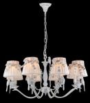 Casa Padrino Barock Kristall Decken Kronleuchter Weiß 75 x H 38 cm Antik Stil - Möbel Lüster Leuchter Hängeleuchte Hängelampe