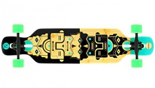 NINETYSIXTY Drop Through Longboard Bambus / Fiberglas - Dropthrough Long Board mit koston Kugellagern