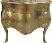 Casa Padrino Barock Kommode Gold 100 cm - Antik Stil Möbel - Kommoden Schubladen Schrank