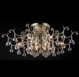 Casa Padrino Barock Kristall Decken Kronleuchter Bronze 89 x H 34 cm Antik Stil - Möbel Lüster Leuchter Deckenleuchte Deckenlampe
