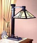 Casa Padrino Tiffany Schreibtischleuchte - Glas Mosaik Büro Leuchte Lampe