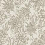 Casa Padrino Luxus Papiertapete Matt Creme / Silber - 10, 05 x 0, 53 m - Tapete mit Blumen Design