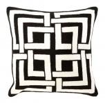 Casa Padrino Designer Zierkissen Schwarz & Weiß 50 x H. 50 cm - Luxus Kissen