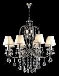Casa Padrino Barock Kristall Decken Kronleuchter Nickel 76 x H 76 cm Antik Stil - Möbel Lüster Leuchter Hängeleuchte Hängelampe