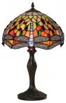 Casa Padrino Tiffany Tischlampe Libellen Mehrfarbig Ø 31, 5 x H. 47, 5 cm - Handgefertigte Tischleuchte