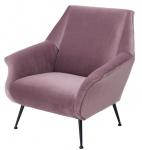 Casa Padrino Luxus Sessel in lila mit schwarzen Beinen 88 x 80 x H. 91 cm - Designer Club Möbel