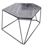 Casa Padrino Designer Couchtisch Schwarz 89 x 54 x H. 30 cm - Luxus Wohnzimmertisch mit Marmorplatte