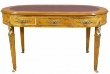 Casa Padrino Luxus Barock Empire Schreibtisch Sekretär 3 Schubladen 150 cm - Handgefertigt aus Massivholz - Barock Schreibtisch Büro Möbel