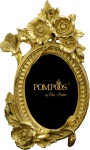 Pompöös by Casa Padrino Barock Bilderrahmen Blumen Gold von Harald Glööckler 27 x 17 cm - Antik Stil Foto Rahmen