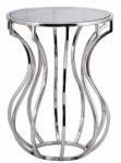 Casa Padrino Designer Beistelltisch Silber / Schwarz Ø 40 x H. 55 cm - Runder Luxus Tisch mit getönter Glasplatte