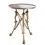 Casa Padrino Luxus Barock Beistelltisch Vintage Messing Finish 60 x H 78 cm - Tisch Möbel