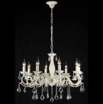 Casa Padrino Barock Decken Kristall Kronleuchter Creme Gold 76 x H 57 cm Antik Stil - Möbel Lüster Leuchter Hängeleuchte Hängelampe