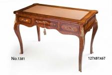 Casa Padrino Barock Schreibtisch 127 x 81 x H. 67 cm - Luxus Qualität