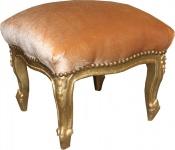 Casa Padrino Barock Fußhocker Gold / Gold - Antik Stil Möbel - Hocker